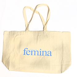 1 SAC DE PLAGE FEMINA EN COTON
